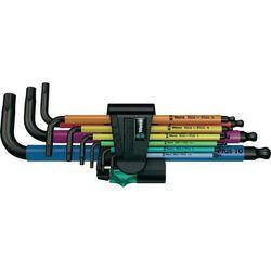 Zestaw kluczy imbusowych 9 szt. 950 spkl/9 sm n multicolour wewnętrzny sześciokąt  05073593001, marki Wera