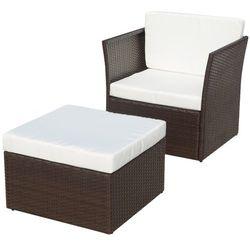 vidaXL Krzesło ogrodowe brązowe - zestaw 5 elementów - produkt z kategorii- Zestawy ogrodowe