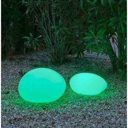 New garden lampa ogrodowa petra 40 solar biała - led, sterowanie pilotem marki Sofa.pl