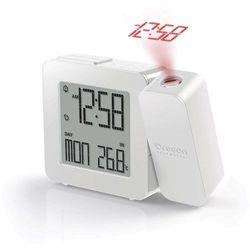 Zegar z projektorem Oregon Scientific PROJI RM 338P Sterowany radiowo, biały, (DxSxW) 26 x 128 x 99 mm, RM338P-W