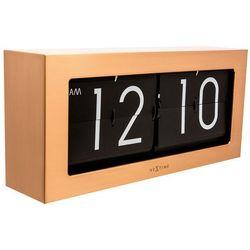 Zegar stołowy big flip  miedziany marki Nextime