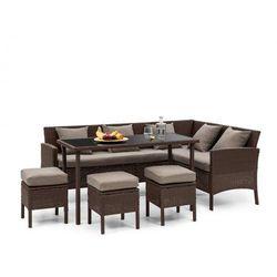 Blumfeldt Titania Dining Lounge Set Komplet mebli ogrodowych brązowy/brązowy (4060656193927)
