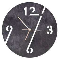 Congee.pl Drewniany zegar na ścianę cyfry ze złotymi wskazówkami (5907509933172)