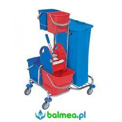Wózek serwisowy Splast Roll Mop SER-0005 czterowiaderkowy z prasą i workiem na śmieci, SER-0005
