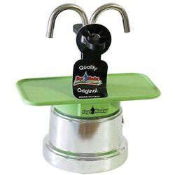 Kawiarka Top Moka Mini 2 filiżanki - srebrno zielona