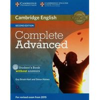 Complete Advanced 2nd Edition. Podręcznik bez Klucza + CD