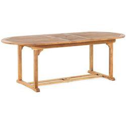 Stół ogrodowy drewniany 180/220 x 100 cm rozkładany JAVA (4260580922826)
