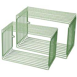 DONE BY DEER Metalowy regał 2 szt. kolor zielony z kategorii Regały i półki