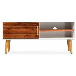 Vidaxl szafka pod tv z drewna akacjowego, 120 x 35 x 45 cm