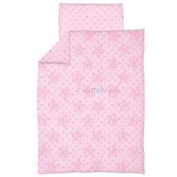 Ceba pościel bawełniana c-2 druk gwiazdki różowe marki Ceba baby