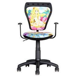 Krzesło obrotowe hihot girl marki Black red white