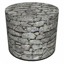Okrągła pufa z motywem kamienia 6 wzorów - adelos 3x marki Producent: elior