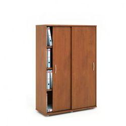 Szafa variant z przesuwnymi drzwiami, 1000x400x1433 mm, ciemny orzech wyprodukowany przez B2b partner