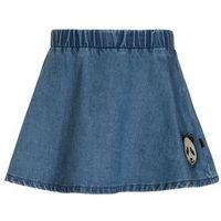 Småfolk PANDA FACE PATCH Spódnica jeansowa medium blue (5713331326910)