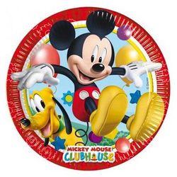 Talerzyki urodzinowe Myszka Mickey - 20 cm - 8 szt.