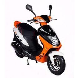 Motorower MOTORQ VIVO Czarno-Pomarańczowo-Biały, towar z kategorii: Skutery