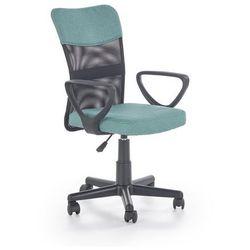 Krzesło dziecięce timmy turkusowo-czarny marki Halmar