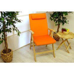 Komplet 4 x poduszka Garth na krzesło pomarańczowy