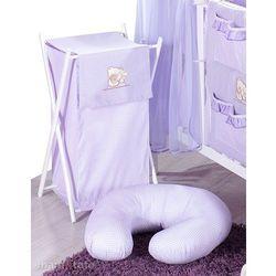 MAMO-TATO Kosz na bieliznę Tulisie w fiolecie z kategorii kosze na pranie