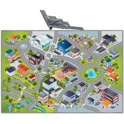 HOK Mata Dywanik Ulice Miasto Lotnisko 100x150 cm + myśliwiec B-2 Spirit