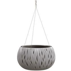 Prosperplast Doniczka wisząca sandy bowl z wkładem 37 cm szara (5905197224466)