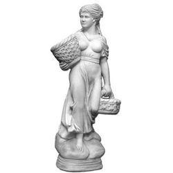 Figura ogrodowa betonowa kobieta z koszami 136cm