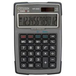 Kalkulator wodoodporny wr-3000, 152x105mm, szary marki Citizen