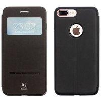 Baseus - Apple iPhone 7 Plus - etui na telefon Baseus Simple Series Leather Case - czarne