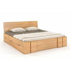 Łóżko drewniane bukowe z szufladami vestre maxi & dr 120-200x200 marki Skandica