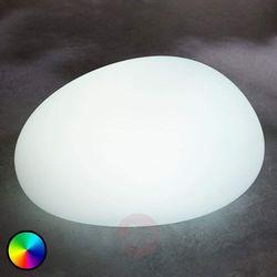 Lampenwelt.com Lampa solarna led rgb floriana, jak kamień, 22 cm (4251096551426)