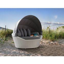 Beliani Kosz plażowy biały - ogrodowy - rattanowy - leżanka - sylt (4260580928927)
