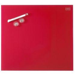Tablica szklana Nobo Diamond 45x45, czerwona