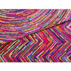 Beliani Dywan - kolorowy - poliester - bawełna - shaggy - 140x200 cm - karasu