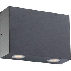 Zewnętrzna lampa ścienna isono 34267-4  aluminiowa oprawa elewacyjna led ip54 outdoor prostokątna ciemnoszary od producenta Globo