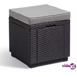 Stolik z siedziskiem i schowkiem 3w1 (grafitowo-jasnoszary) cube marki Keter