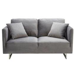 2-osobowa sofa welurowa ONELIA - Kolor szary