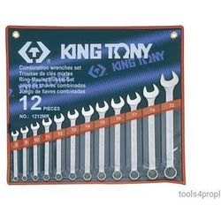 ZESTAW KLUCZY PŁASKO-OCZKOWYCH 12cz. 8 - 22mm King Tony 1212MR, 1212MR