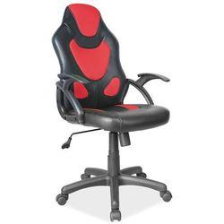Fotel obrotowy q-100 czarny czerwony marki Signal meble