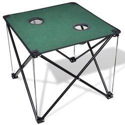 vidaXL Składany stół kempingowy ciemno zielony (8718475910534)