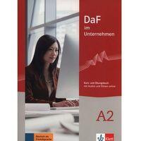 DaF im Unternehmen A2. Kurs- und Übungsbuch mit Audios und Filmen Online - mamy na stanie, wyślemy natychmia