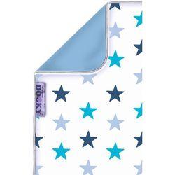 Dwustronny kocyk Dooky - blue stars