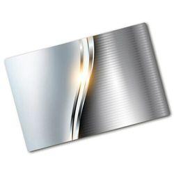 Deska kuchenna duża szklana Metalowa abstrakcja