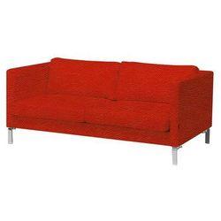 3 siedziskowa sofa z serii KVADRAT tapicerowana skórą w kolorze czaerwonym