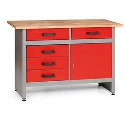 Stół roboczy HOBBY I z szufladami i szafką (8595004158021)