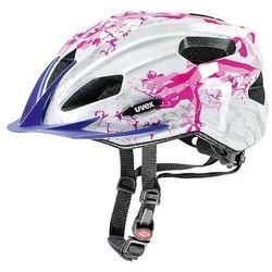 Kask rowerowy Uvex Quatro Junior biało-różowy z kategorii Ochraniacze i kaski do sportów walki