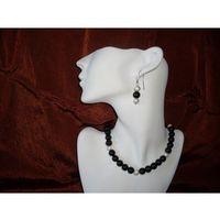 N-00012 Naszyjnik z perełek szklanych, czarnych