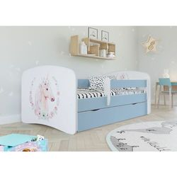 Łóżko dla dziecka, barierka, babydreams, konik, niebieskie marki Kocotkids