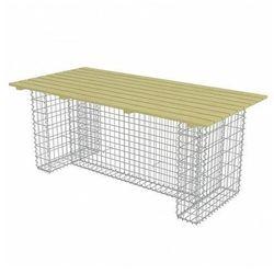 Stół ogrodowy Matte ze stalowym gabionem, vidaxl_275901