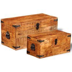 kufry, skrzynie z drewna mango marki Vidaxl