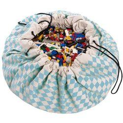 Worek na zabawki  - niebieskie romby wyprodukowany przez Play&go
